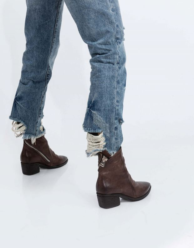 נעלי נשים - A.S. 98 - מגפוני עור PARADE - חום