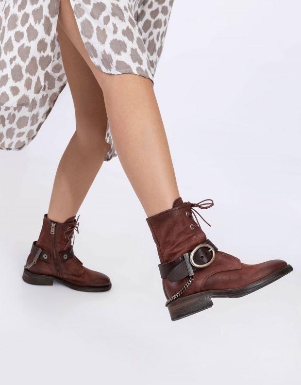 נעלי נשים - A.S. 98 - מגפונים עם אבזם FLOWER - חמרה