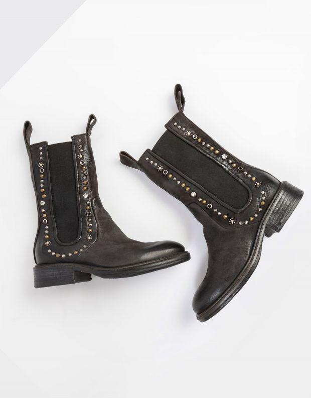 נעלי נשים - A.S. 98 - מגפיים עם ניטים FLOWER - שחור