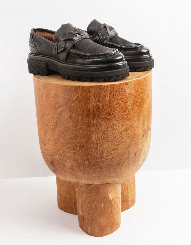 נעלי נשים - A.S. 98 - נעלי מוקסינים HEAVEN - שחור