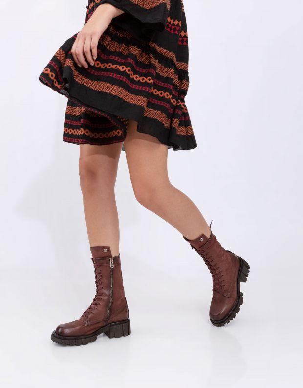 נעלי נשים - A.S. 98 - מגפיים עם שרוכים HELL - חמרה
