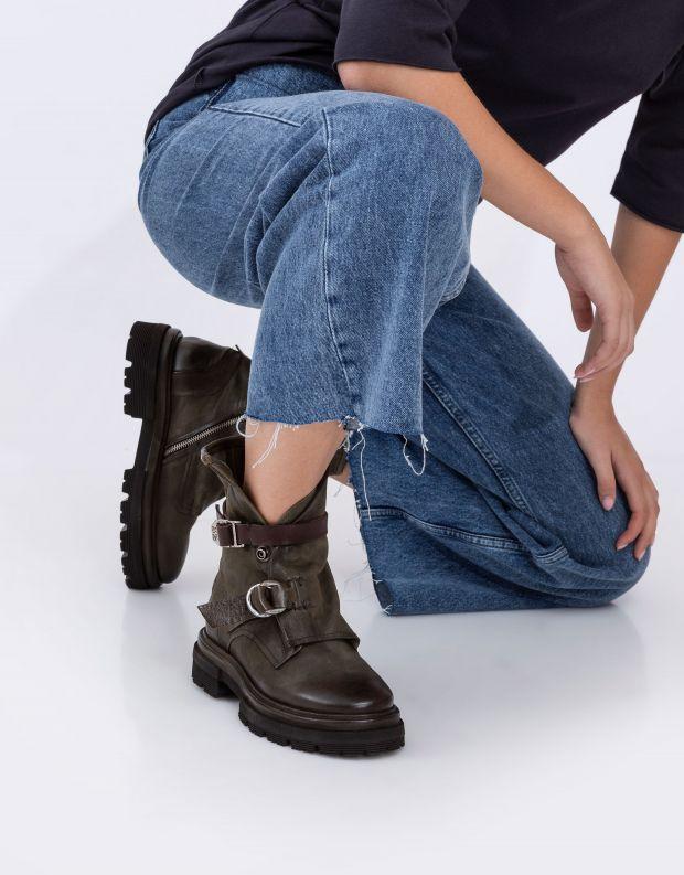 נעלי נשים - A.S. 98 - מגפוני מעטפת HEAVEN - חאקי