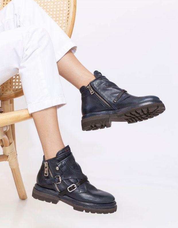 נעלי נשים - A.S. 98 - מגפונים עם אבזמים HEAVEN - כחול