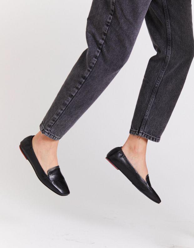 נעלי נשים - Yuko Imanishi - נעלי מוקסינים MUGI - שחור