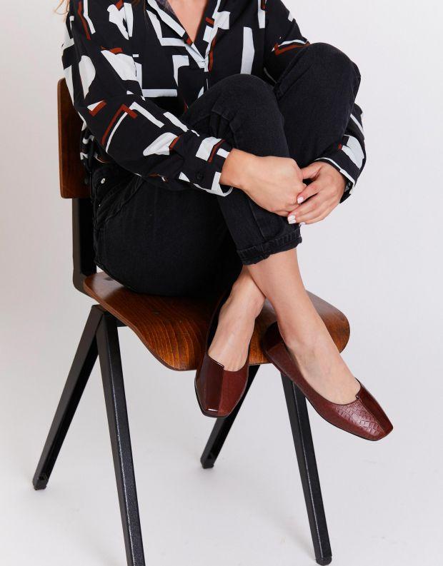 נעלי נשים - Yuko Imanishi - נעלי בלרינה משולבות ASAHI - חום