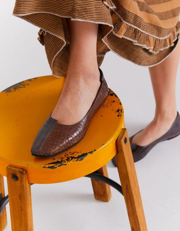 נעלי נשים - Yuko Imanishi - נעלי בלרינה משולבות ASAHI - אפור