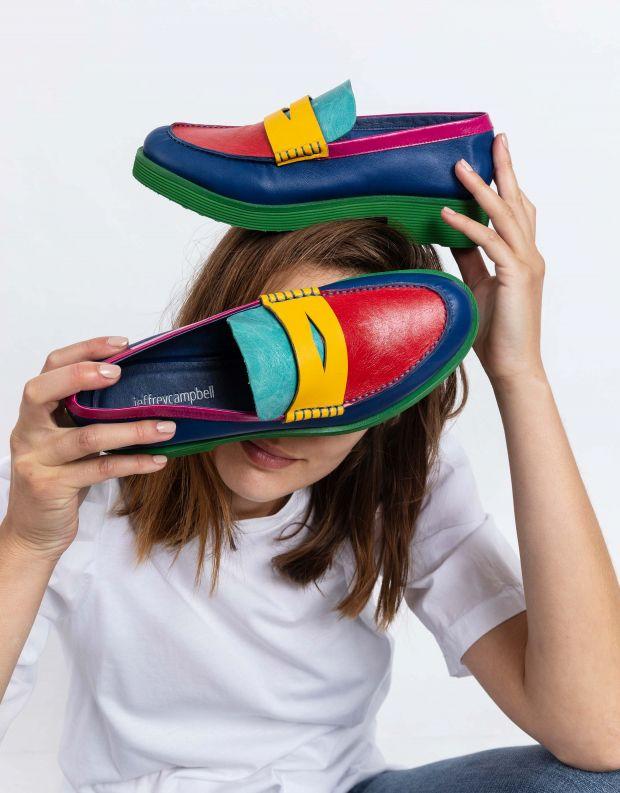 נעלי נשים - Jeffrey Campbell - מוקסינים צבעונים LENNA - צבעוני