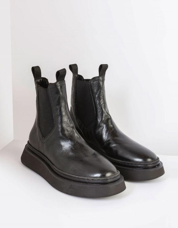 נעלי נשים - Mjus - מגפוני צ'לסי BASE - שחור