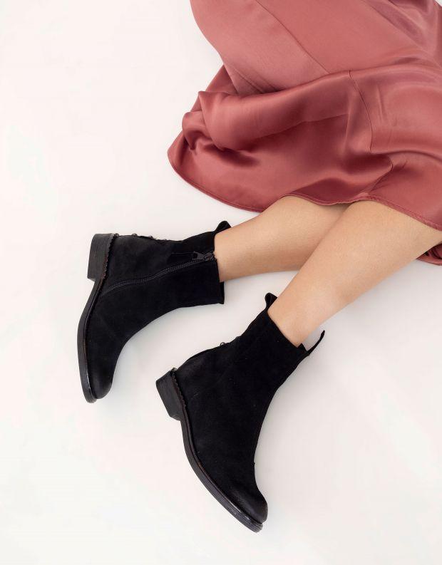 נעלי נשים - Mjus - מגפוני זמש PALLY - שחור