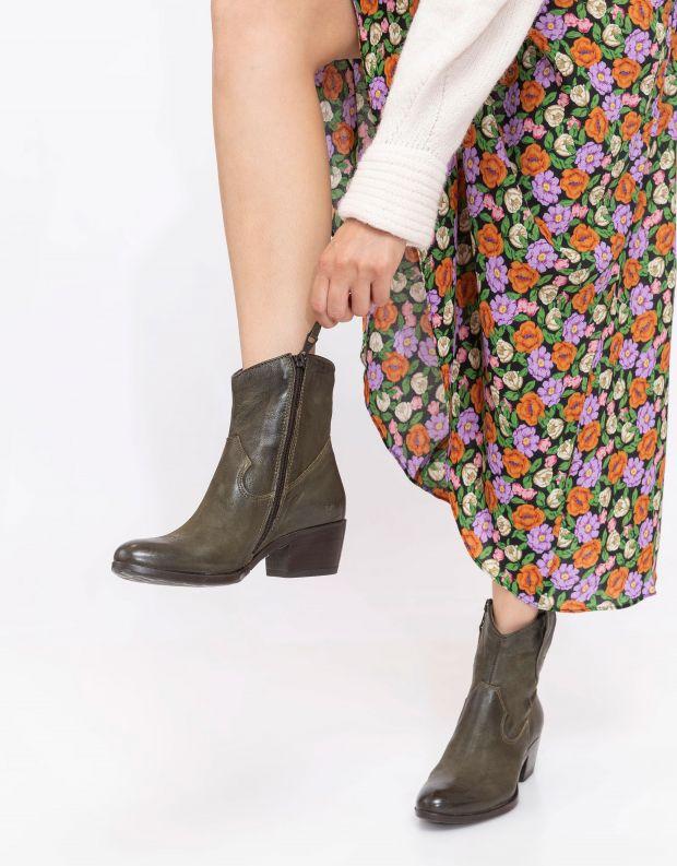 נעלי נשים - Mjus - מגפוני בוקרים מעור DALLAS - ירוק