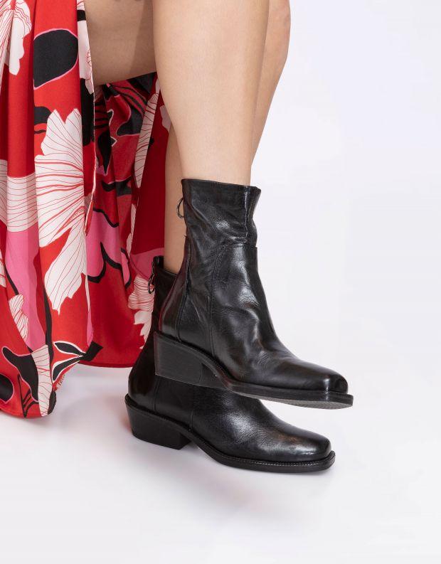 נעלי נשים - Mjus - מגפוני עור OCTOBER - שחור