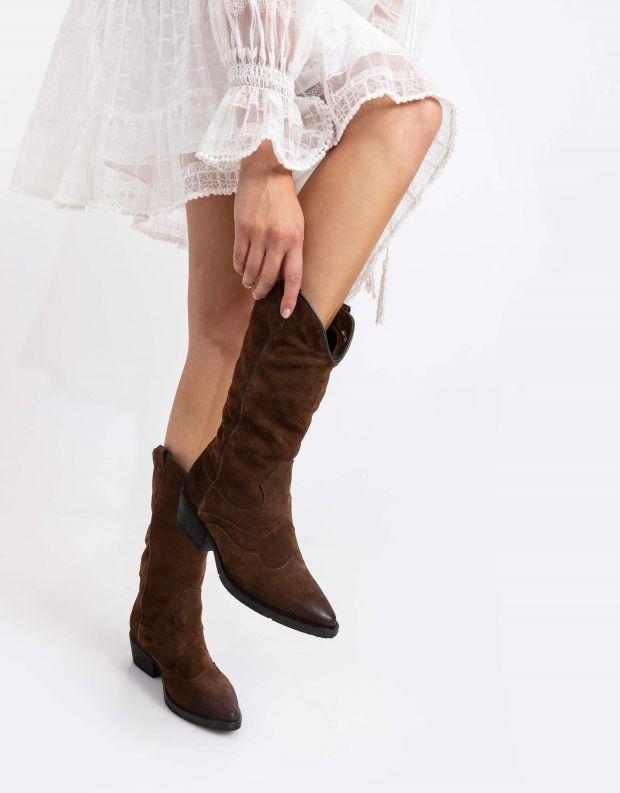נעלי נשים - Mjus - מגפי בוקרים CALMA - חום