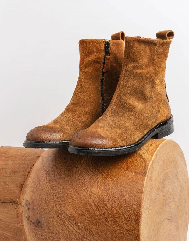 נעלי נשים - Mjus - מגפוני זמש PALLY - חום בהיר
