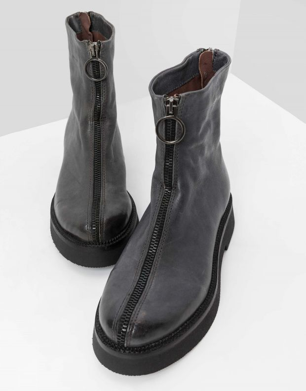 נעלי נשים - Mjus - מגפונים עם רוכסן TRIPLE - אפור