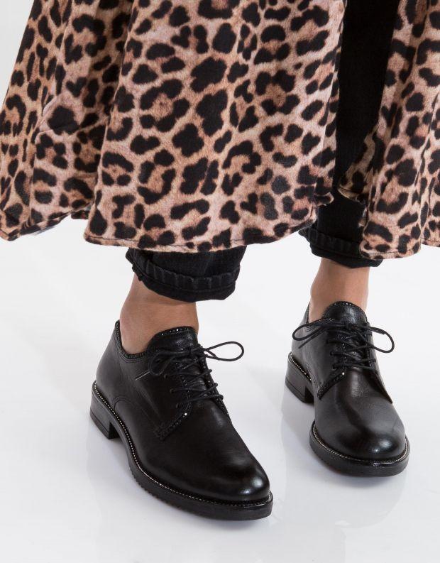 נעלי נשים - Mjus - נעלי עור ZARKO - שחור