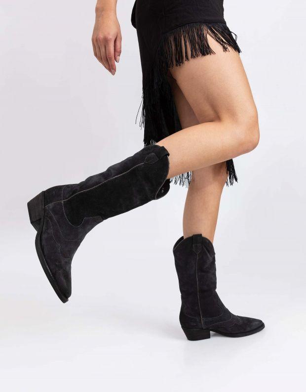 נעלי נשים - Mjus - מגפי בוקרים CALMA - אפור