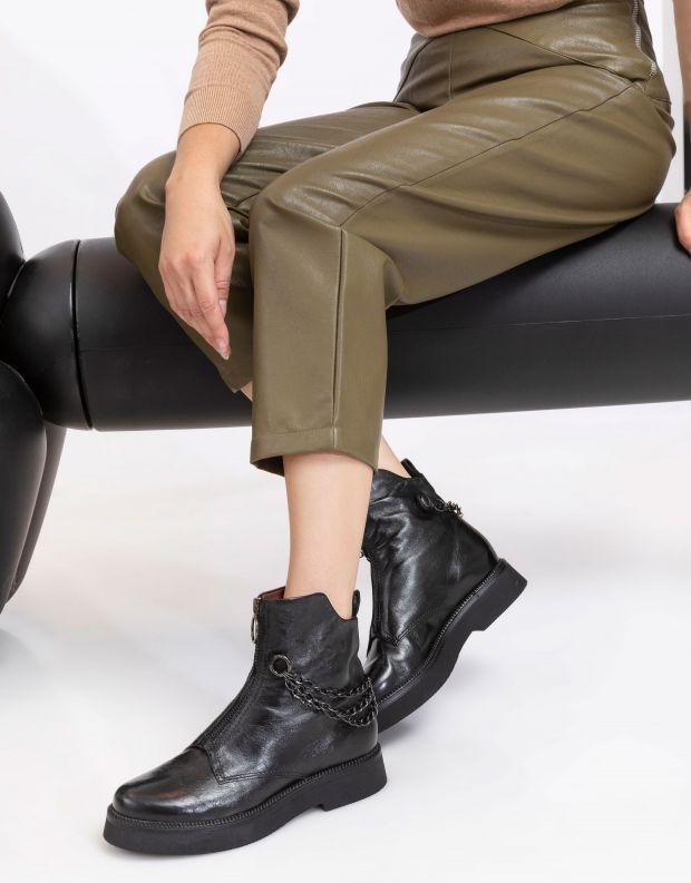 נעלי נשים - Mjus - מגפונים עם שרשרת TRIPLE - שחור