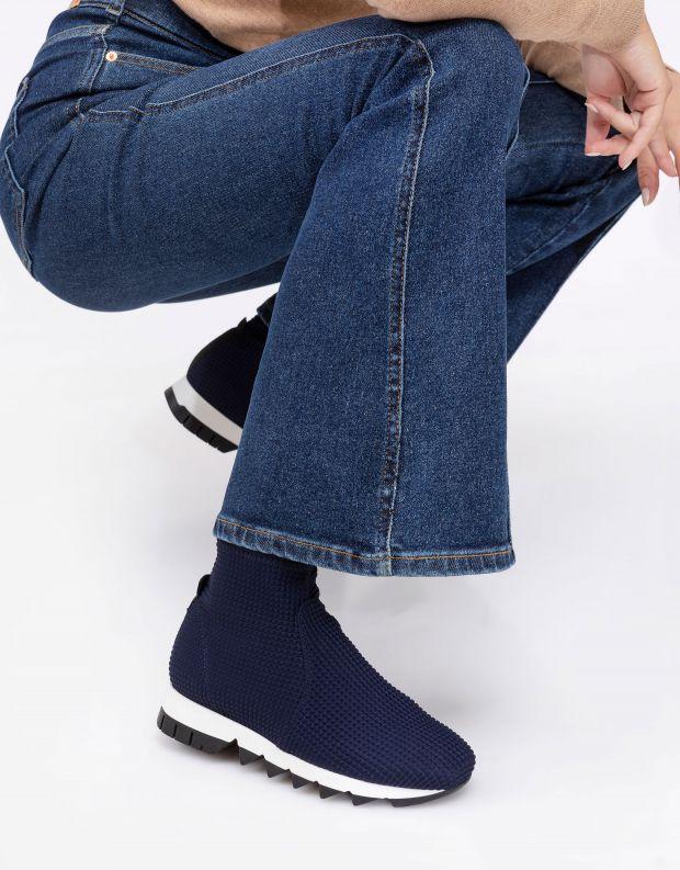 נעלי נשים - NR Rapisardi - מגפונים BECCO ריבועים - כחול