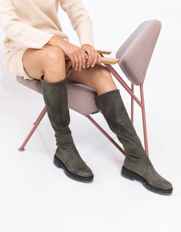 נעלי נשים - NR Rapisardi - מגפיים גבוהים IRA VINTAGE - ירוק