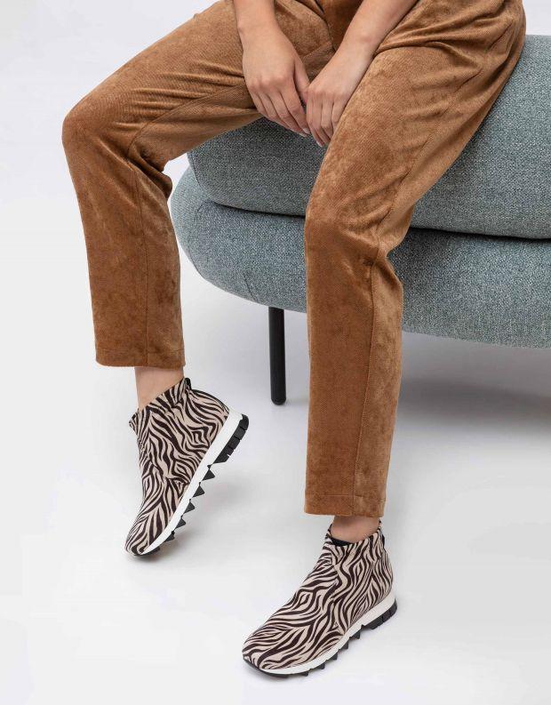 נעלי נשים - NR Rapisardi - מגפונים BECCO ENIMAL - זברה