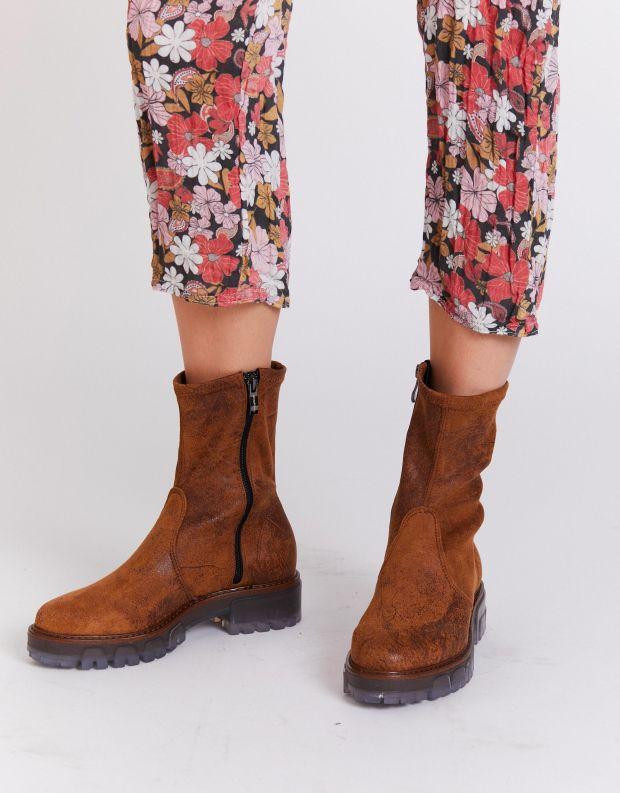 נעלי נשים - NR Rapisardi - מגפונים INA VINTAGE - חום בהיר