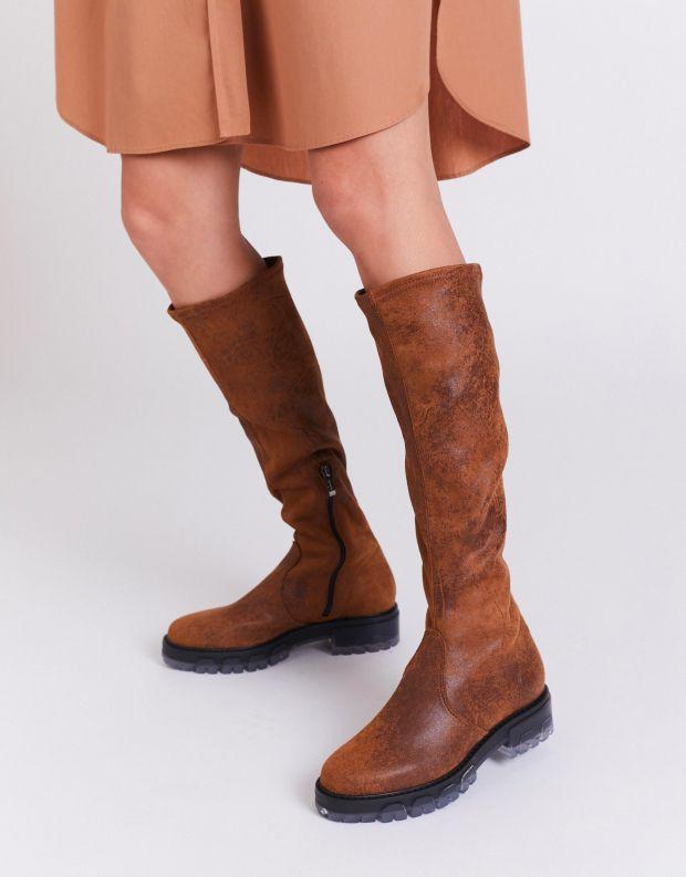 נעלי נשים - NR Rapisardi - מגפיים גבוהים IRA VINTAGE - חום בהיר