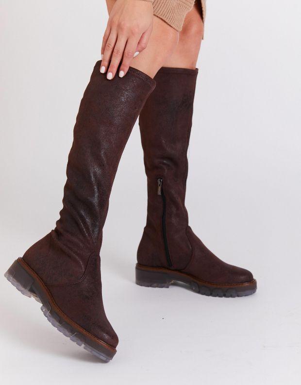 נעלי נשים - NR Rapisardi - מגפיים גבוהים IRA VINTAGE - חום כהה