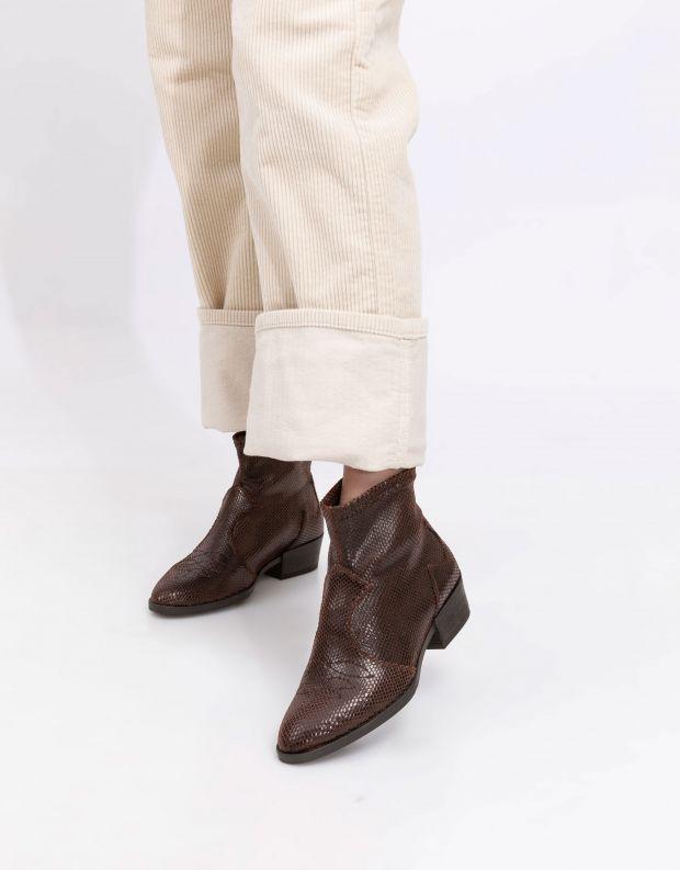 נעלי נשים - NR Rapisardi - מגפוני בוקרים TARIA - חום
