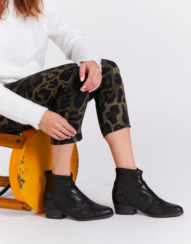 נעלי נשים - NR Rapisardi - מגפוני בוקרים TARIA - שחור