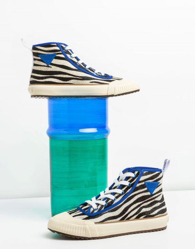 נעלי נשים - Schutz - סניקרס גבוהות CALLISTA EN - זברה