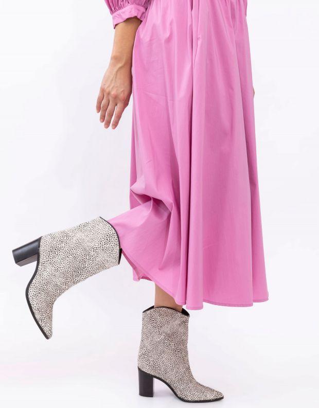 נעלי נשים - Schutz - מגפוני בוקרים עם עקב MAND - לבן   שחור