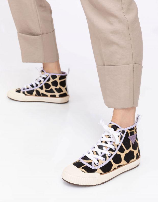 נעלי נשים - Schutz - סניקרס גבוהות CALLISTA EN - ג'ירפה