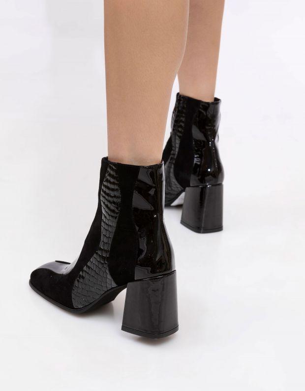 נעלי נשים - Jeffrey Campbell - מגפוני עקב LAVALAMP - שחור