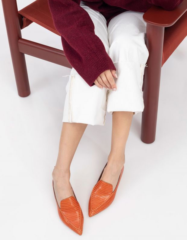 נעלי נשים - Jeffrey Campbell - נעלי סירה VIONA - כתום