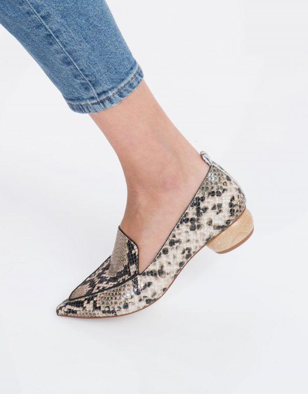 נעלי נשים - Jeffrey Campbell - נעלי סירה VIONA - חום נחש