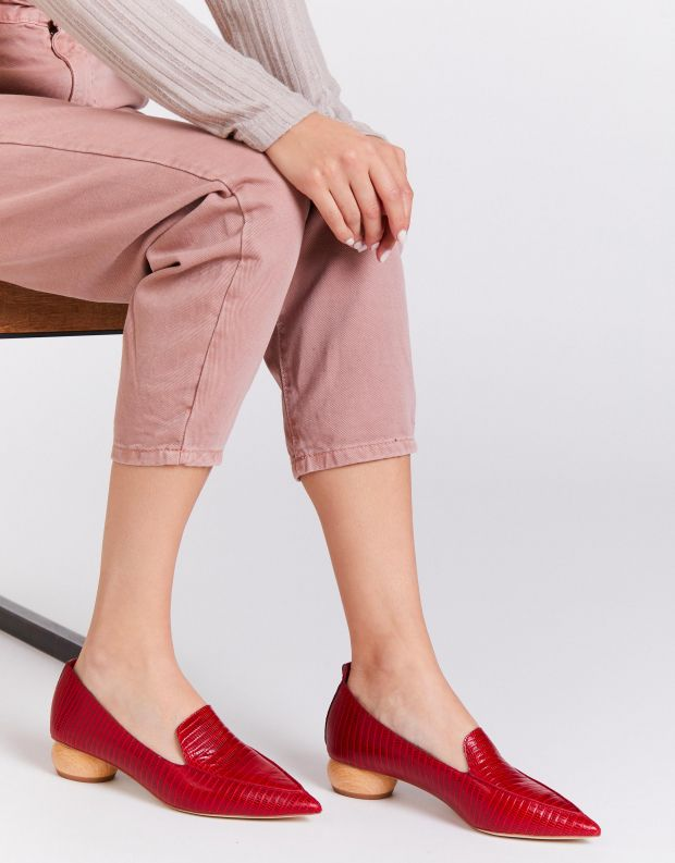 נעלי נשים - Jeffrey Campbell - נעלי סירה VIONA - אדום