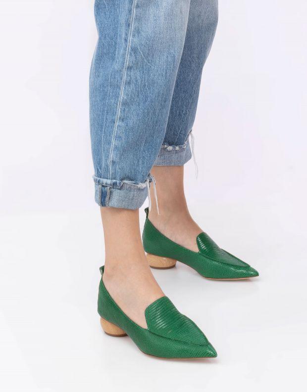 נעלי נשים - Jeffrey Campbell - נעלי סירה VIONA - ירוק
